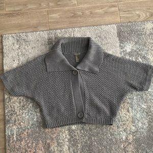 warm knit crop sweater bolero poncho shall